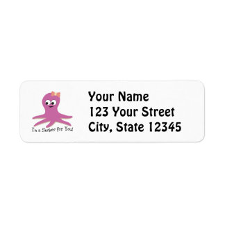 I'm a sucker for you! Pink Octopus Label