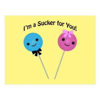 I'm a sucker for you! postcard