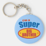 I'm a Super Big Brother Basic Round Button Keychain