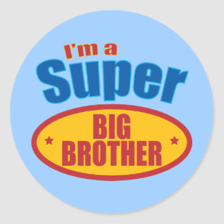 I'm a Super Big Brother Classic Round Sticker