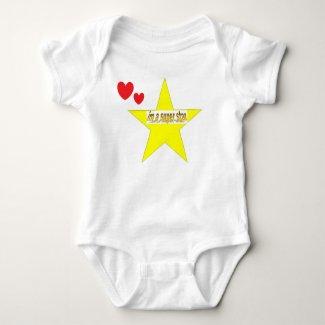 im a super star Baby Jersey Bodysuit