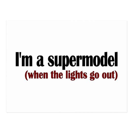 I'M A Supermodel Postcard