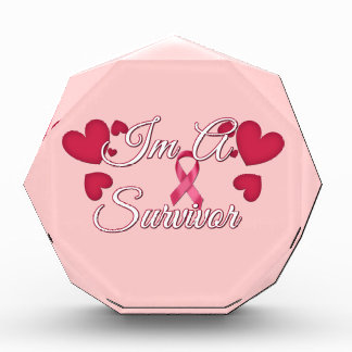 I'm A Survivor Breast Cancer Tees and Gifts Acrylic Award