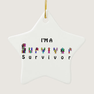 I'm a survivor ceramic ornament