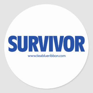 I'm a Survivor Classic Round Sticker