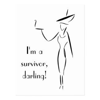 I'm a Survivor, Darling! Postcard