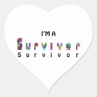 I'm a survivor heart sticker