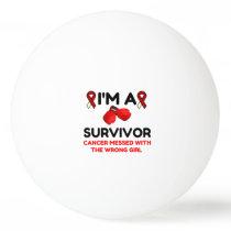 I'm A Survivor Ping Pong Ball