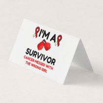 I'm A Survivor Place Card