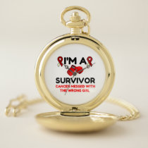 I'm A Survivor Pocket Watch