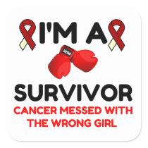 I'm A Survivor Square Sticker