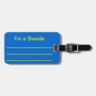I'm a Swede Travel Bag Tags