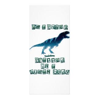 I'm a T-Rex Rack Card Design