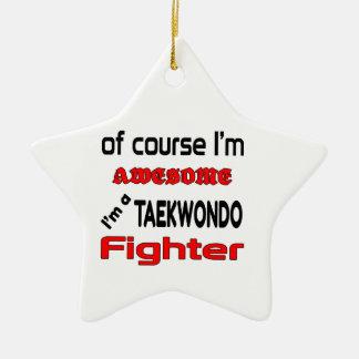I'm a Taekwondo Fighter Ceramic Ornament
