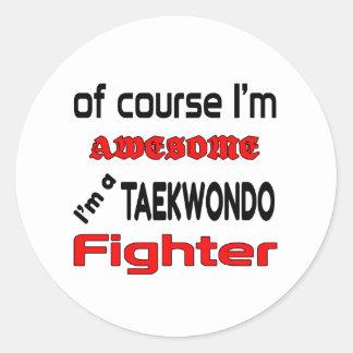I'm a Taekwondo Fighter Classic Round Sticker