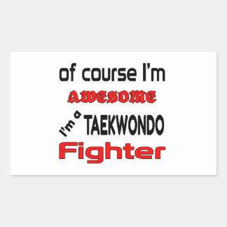 I'm a Taekwondo Fighter Rectangular Sticker