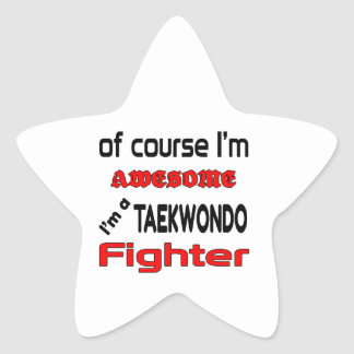 I'm a Taekwondo Fighter Star Sticker