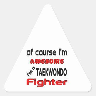 I'm a Taekwondo Fighter Triangle Sticker