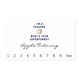I'm a Teacher [apple] What's Your Superpower? Double-Sided Standard Business Cards (Pack Of 100)