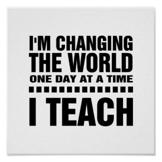I'm a Teacher.  Quote | Typography Art Poster