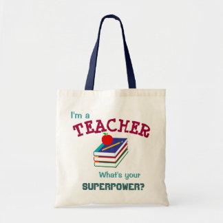 """""""I'm a Teacher"""" Tote Bags"""