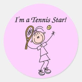 I'm a Tennis Star Stickers