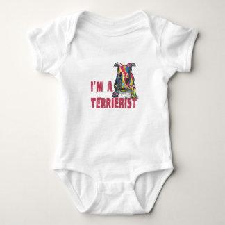 I'm a terrierist baby bodysuit