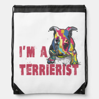 I'm a terrierist drawstring backpack