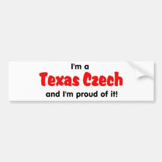 I'm a Texas Czech - T shirt Car Bumper Sticker