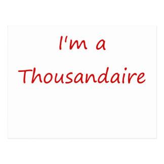 I'm A Thousandaire Postcard