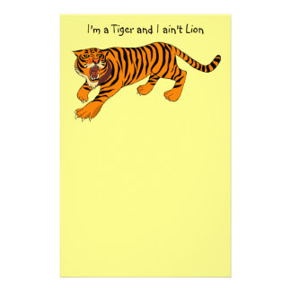 I'm a Tiger and I ain't Lion Stationery