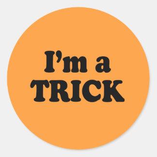 I'm a trick round sticker