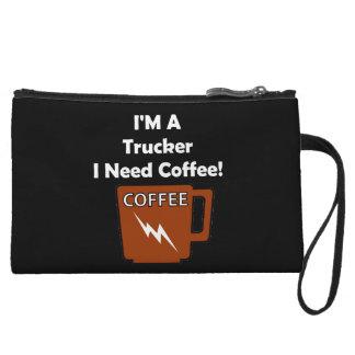 I'M A Trucker, I Need Coffee! Wristlet Wallet