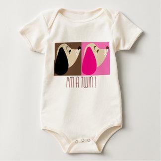 ' I'm a twin !' Baby Bodysuit