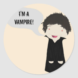 I'm a vampire! - sticker