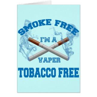 I'M A VAPER SMOKE FREE TOBACCO FREE CARD