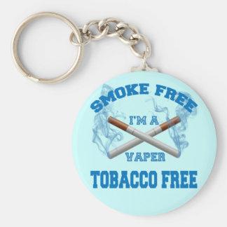 I'M A VAPER SMOKE FREE TOBACCO FREE BASIC ROUND BUTTON KEYCHAIN