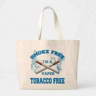I'M A VAPER SMOKE FREE TOBACCO FREE LARGE TOTE BAG