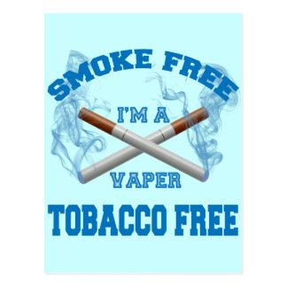 I'M A VAPER SMOKE FREE TOBACCO FREE POSTCARD
