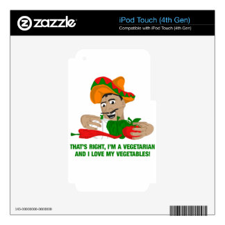 Im A Vegetarian And I Love My Vegetables Skin For iPod Touch 4G