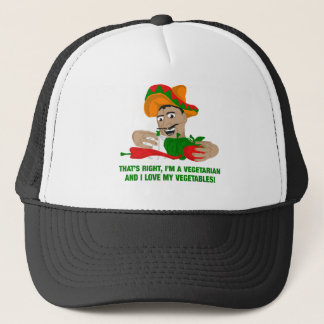 Im A Vegetarian And I Love My Vegetables Trucker Hat