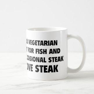 I'm a Vegetarian exept for ... Coffee Mug