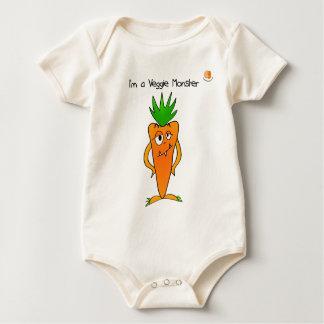 I'm a Veggie Monster Infant Bodysuit  - Carrot