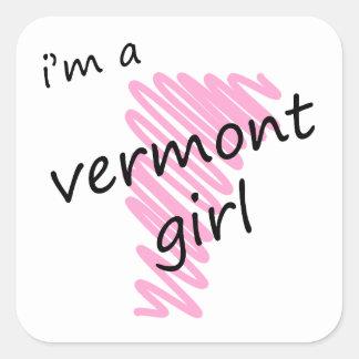 I'm a Vermont Girl Square Sticker