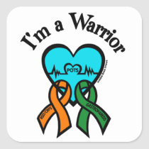 I'm a Warrior/Gabby Square Sticker