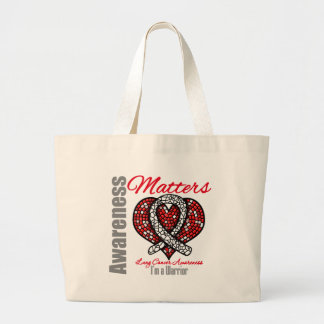 I'm A Warrior - Lung Cancer Awareness Matters Canvas Bags