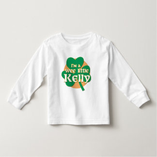 I'm a Wee Little Kelly Toddler Long Sleeve Tshirt