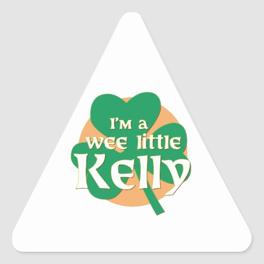 I'm a Wee Little Kelly Triangle Sticker