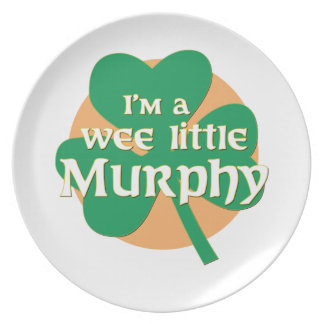 I'm a Wee Little Murphy Party Plate