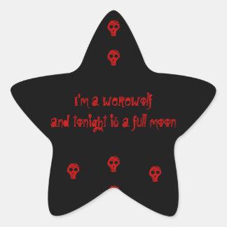 I'm a werewolfand tonight is a full moon star sticker